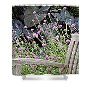 Sitting Amongst A Wildflower Garden Shower Curtain
