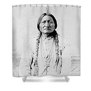 Sitting Bull, A Hunkpapa Lakota Tribal Shower Curtain