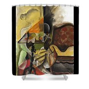 Sitting Figure II Shower Curtain