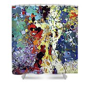 Sitting Nu Abstract Shower Curtain