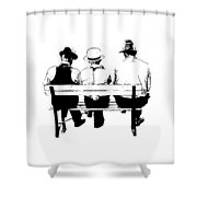 Sitting On A Park Bench Shower Curtain