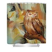 Sitting Owl Shower Curtain