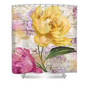 Sitting Pretty Peonies Shower Curtain