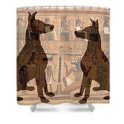 Sitting Proud Dogs And Ancient Egypt Shower Curtain