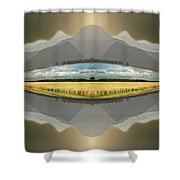 Sitting Silently Shower Curtain