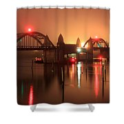 Siuslaw River Bridge At Night Shower Curtain