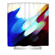Sivilia 12 Abstract Shower Curtain
