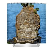 Siwash Rock By Stanley Park Shower Curtain
