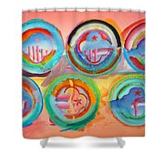 Six American Icons Shower Curtain