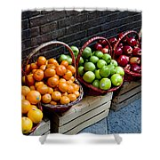 Six Baskets Of Assorted Fresh Fruit Shower Curtain