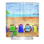 Six Beach Amigos Shower Curtain