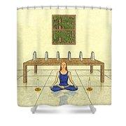 Six Of Obelisks Shower Curtain