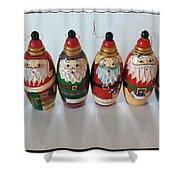 Six Russian Santas Shower Curtain
