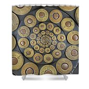 Six Shooter Cylinder Loaded Droste 1 Shower Curtain