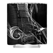 Six Stringer Bw Shower Curtain