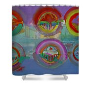 Six Visions Of Heaven Shower Curtain