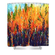 Sizzlescape Shower Curtain