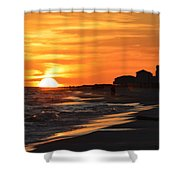 Sizzling Sunset Shower Curtain