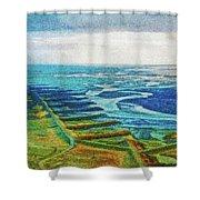 Skaftafell Floodplain Shower Curtain