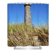 Skagen Denmark - Lighthouse Grey Tower Shower Curtain