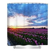 Skagit Floral Sunset Shower Curtain