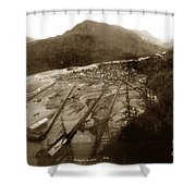 Skaguway, Alaska View From Hill Over Looking 1898 Shower Curtain