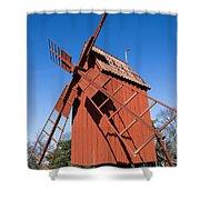 Skansen Windmill Shower Curtain