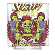 Skate Riders Shower Curtain