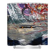 Skateboard Shower Curtain