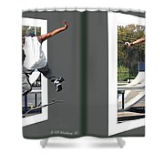 Skateboarder - Gently Cross Your Eyes And Focus On The Middle Image Shower Curtain
