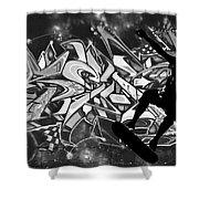 Skateboarder On Graffitti Shower Curtain