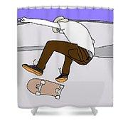 Skateboarding Shower Curtain
