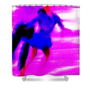 Skating Couple Abstract Shower Curtain