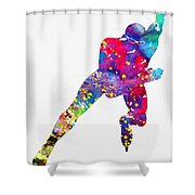 Skating Man-colorful Shower Curtain