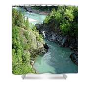 Bulkley River Canyon Shower Curtain