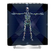 Skeletal System Shower Curtain