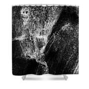 Skeleton And Goblin Water Rock Shower Curtain