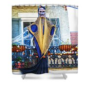 Skeleton Ghost Shower Curtain