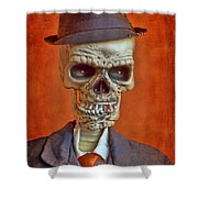 Skeleton Man Shower Curtain
