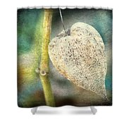 Skeleton Physalis Shower Curtain
