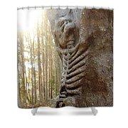 Skeleton Tree Shower Curtain