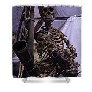 Skeleton With Bow Canon Shower Curtain