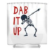 Skelleton Halloween Dabbing Funny Humor Easy Costume Dab It Up Everywhere Kids Children Dabbing Offi Shower Curtain