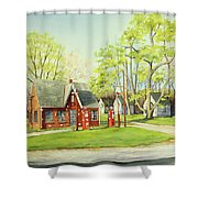 Skelly Gas Station Shower Curtain