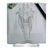 Sket Cbr250r #cbr250r Shower Curtain