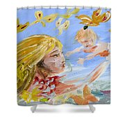 Sketch 1 Shower Curtain