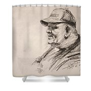 Sketch Man 15 Shower Curtain