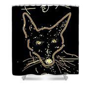 Sketch Of Fox By Kathy Barney Shower Curtain