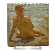 Sketch Of Nude Youth Study For Morning Spelendour Shower Curtain