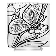 Sketch Painting Shower Curtain